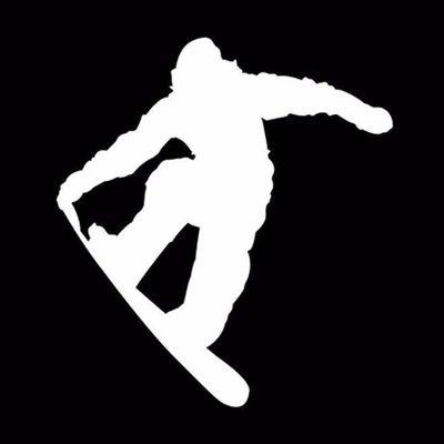 Snowboarder Autosticker Wit