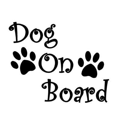 Dog on Board Autosticker Zwart