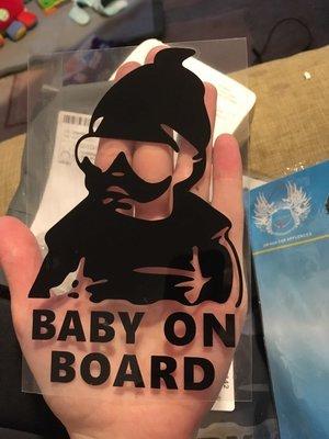 Baby on Board Autosticker Zwart