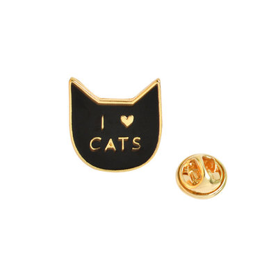 I Love Cats Kat Pin Broche