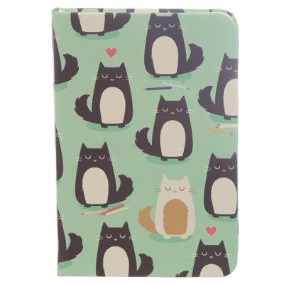 Feline Fine Kat Notitieboek Lijn Hardback