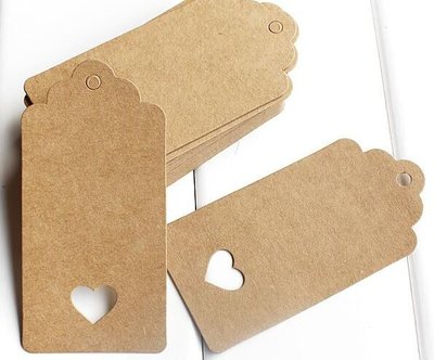 Labels Kraft Tag Label - 10 stuks