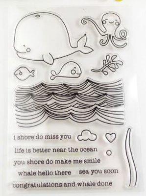'I shore do miss you' Transparante Stempels