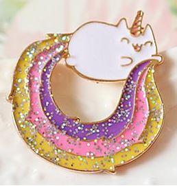 Eenhoorn Poes Kat Glitter Broche Pin