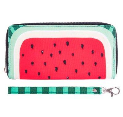 Watermeloen Portemonnee met Rits