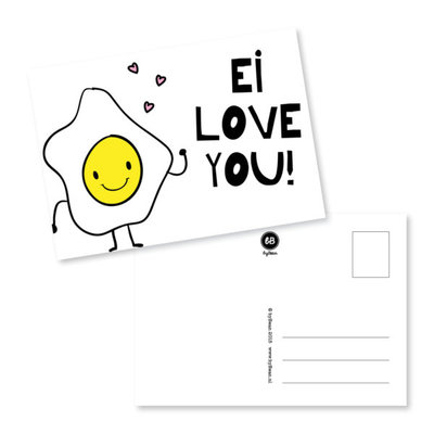 'Ei love you!' Ansichtkaart