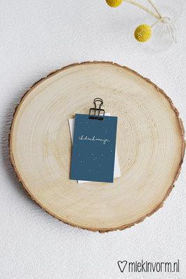 'Ik denk aan je' - Mini Kaart
