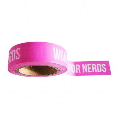 'Words are for nerds' Washi Tape - 10M