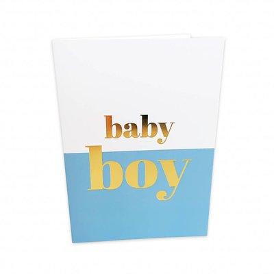 Baby boy - Dubbele kaart