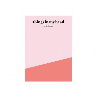 'Things in my head' - Notitieblok