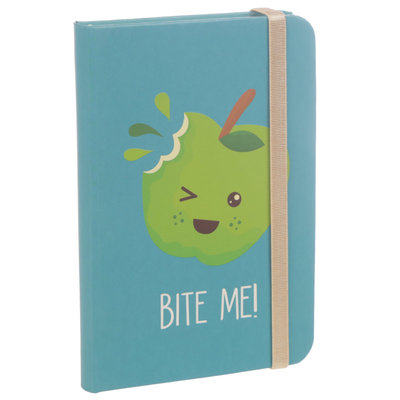 Bite Me Appel Notitieboekje A6 Lijn Hardback