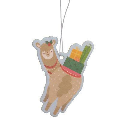 Feestelijke Kerstmis Alpaca Appel Kaneel Luchtverfrisser