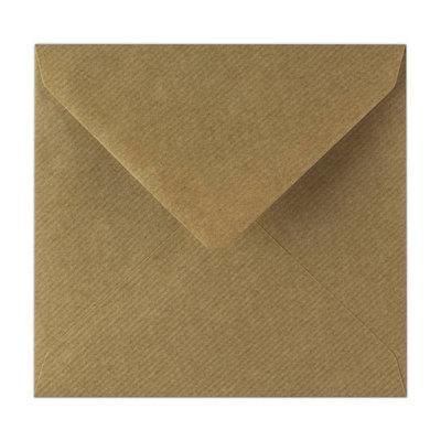Kraft enveloppen vierkant - 5 stuks