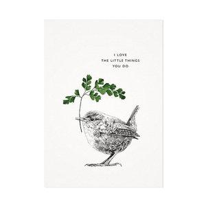 De Winterkoning - Sweet bird - Ansichtkaart