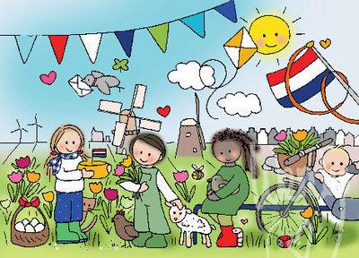Ansichtkaart Nederland Wendytekent