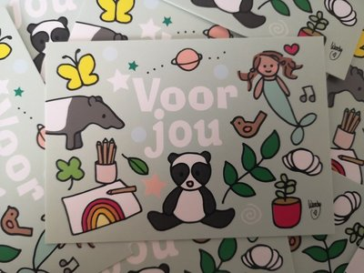 Voor jou Groen- Minikaartje