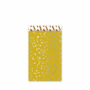 Colorful Terrazzo oker/mint/roest - 5 zakjes - maat M