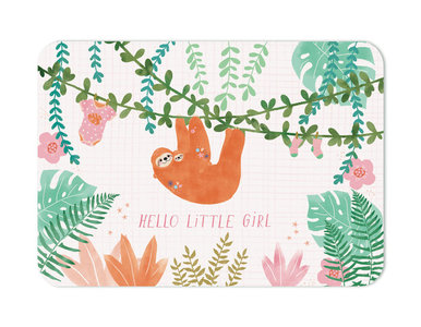 Hello little girl Luiaard - Ansichtkaart