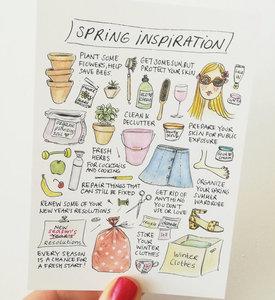 Spring Inspiration Lente Inspiratie Ansichtkaart
