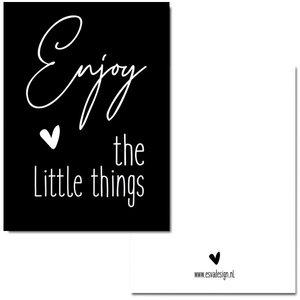 Enjoy the little things Zwart - Minikaart