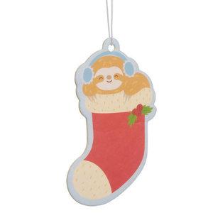 Feestelijke Kerstmis Luiaard - Luchtverfrisser