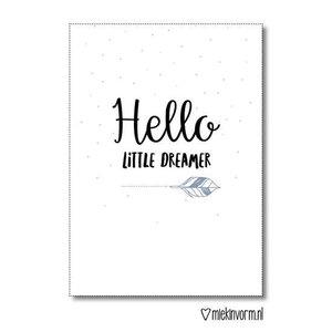 Hello little dreamer - Ansichtkaart