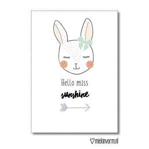 Hello miss sunshine - Ansichtkaart