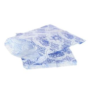 Oud-Hollands Design Blauw/Wit Papieren Zakjes 10 stuks