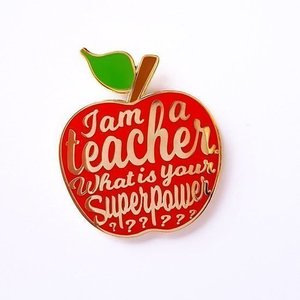 I am a teacher Pin Rood