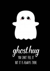 Ghost hug - Ansichtkaart