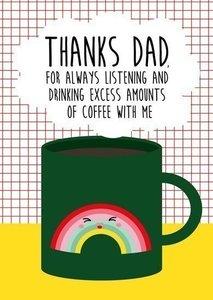 Thanks dad - Ansichtkaart