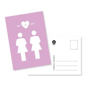 Love is Love Vrouwen Ansichtkaart