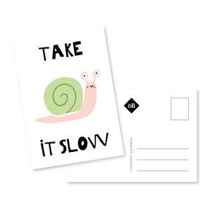 Take it slow Ansichtkaart