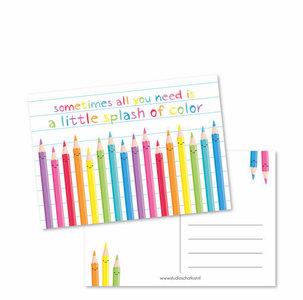 A little splash of color - Ansichtkaart