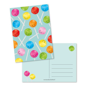 Lolly's Patroon Mint - Ansichtkaart
