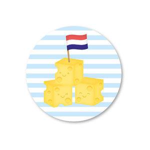 Blokjes Kaas - Stickers - Set van 5