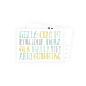 Hallo - Ansichtkaart