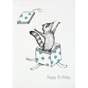 Happy Birthday Wasbeer - Ansichtkaart
