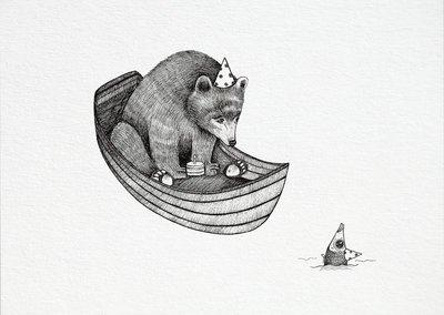 Ansichtkaart I bamboe - beer verjaardag