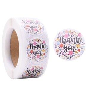 Thank You Bloemen - Stickers - Set van 20