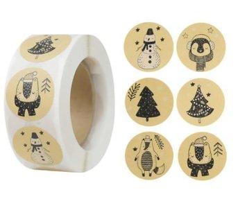 Winter Thema - Stickers - Set van 20