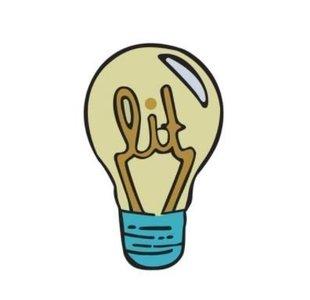 Lit Lamp Broche / Pin