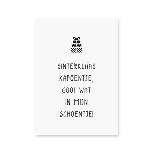 'Sinterklaas kapoentje, gooi wat in mijn schoontje' - Ansichtkaart