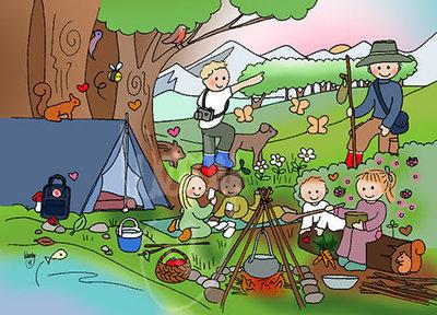 Natuurkindjes - Ansichtkaart