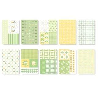 'Geel/groen' Setje van 50 Mini Blaadjes