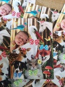 Kaart Baby en Dieren