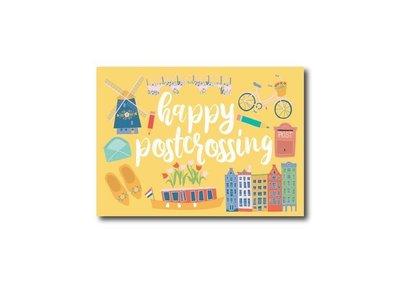 Happy Postcrossing Geel - Ansichtkaart