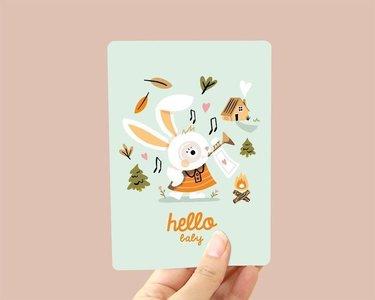 Hello Baby Konijn - Ansichtkaart