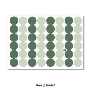 Effen groen - Stickervel