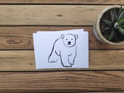 IJsbeer - Ansichtkaart